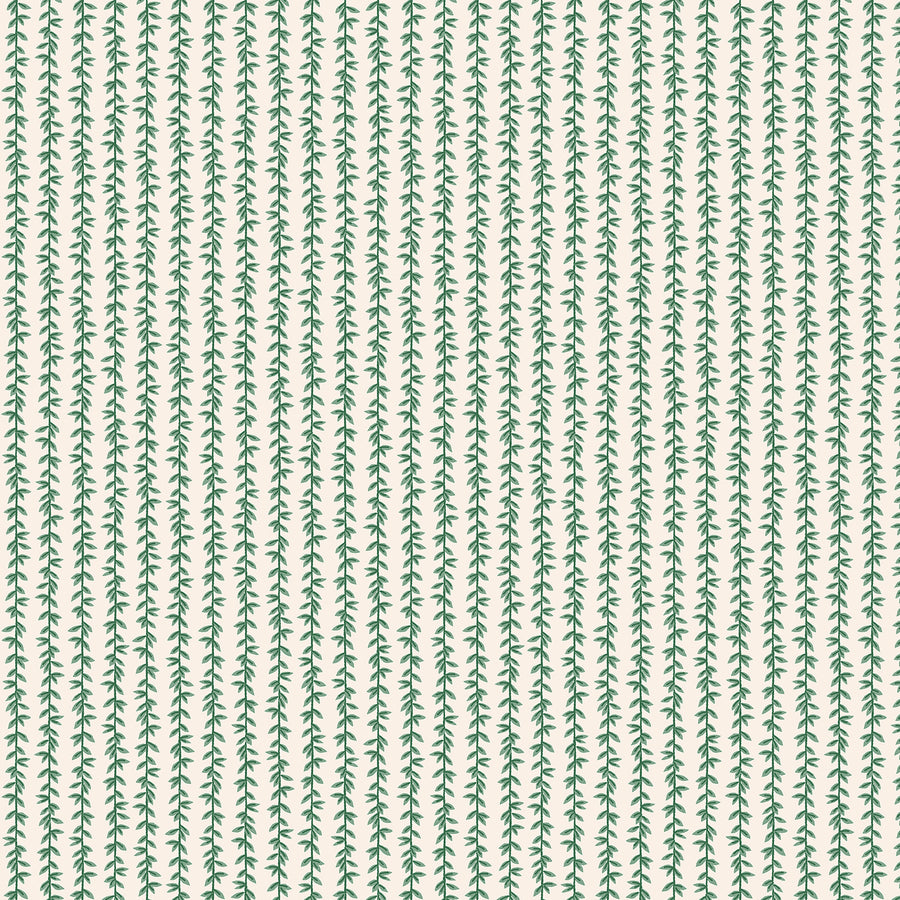 Rifle Paper Co - Cotton - Strawberry Fields - Laurel Stripe - Cream