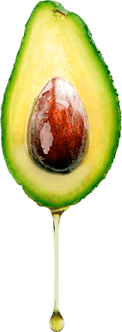 Avocado dripping with avocado oil