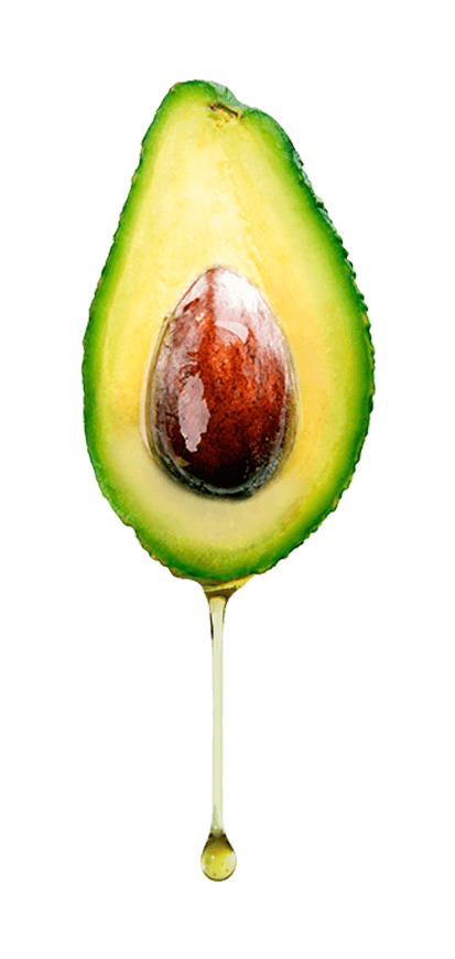 An avocado dripping pure extra virgin avocado oil