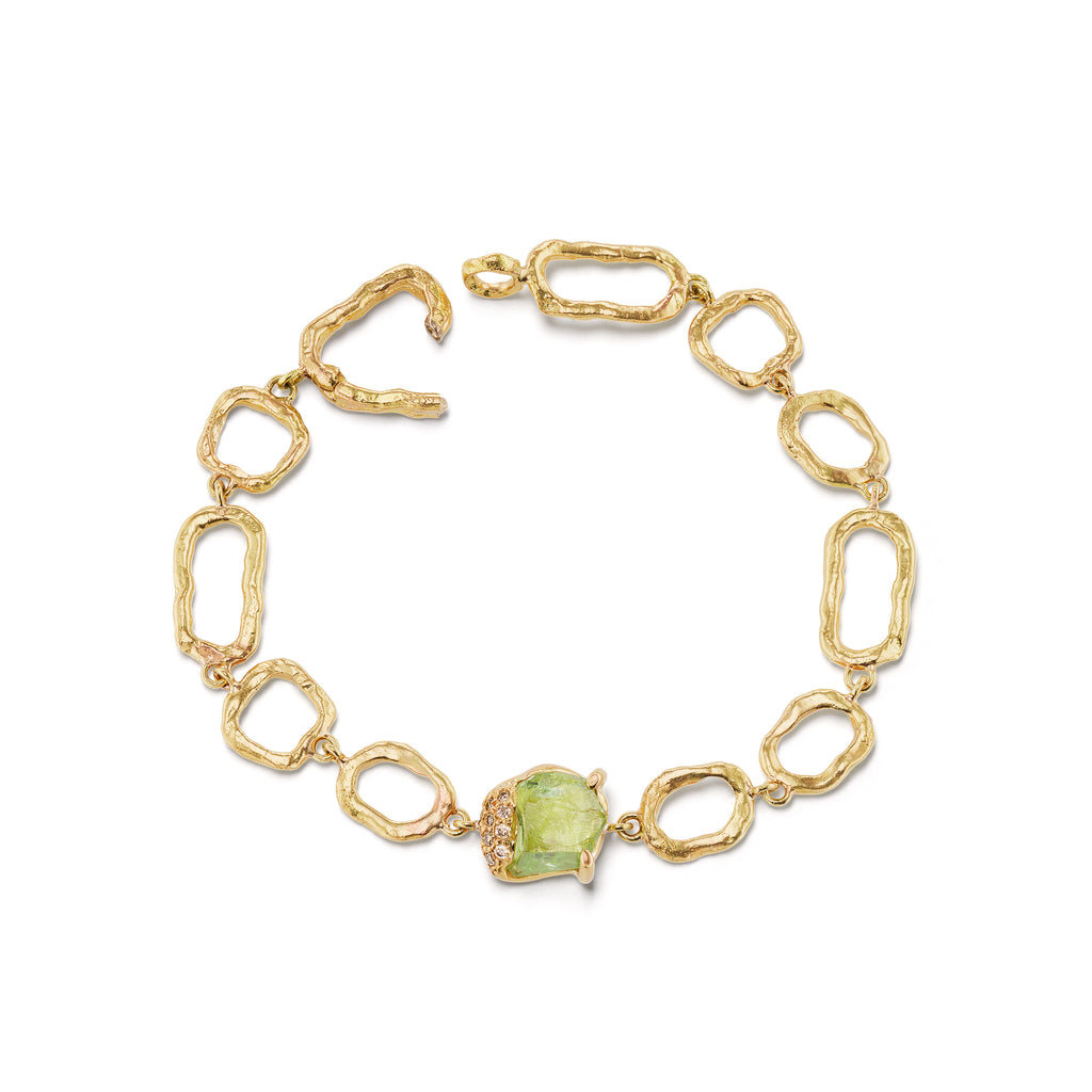 Gladwell on Links Bracelet - Grossular Garnet