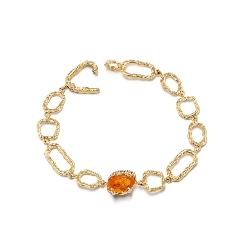 Gladwell on Links Bracelet - Spessartine Garnet