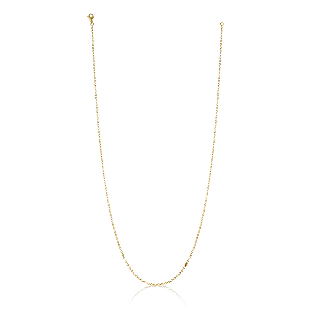 Cable Chain Necklace with Colored Diamond Accent