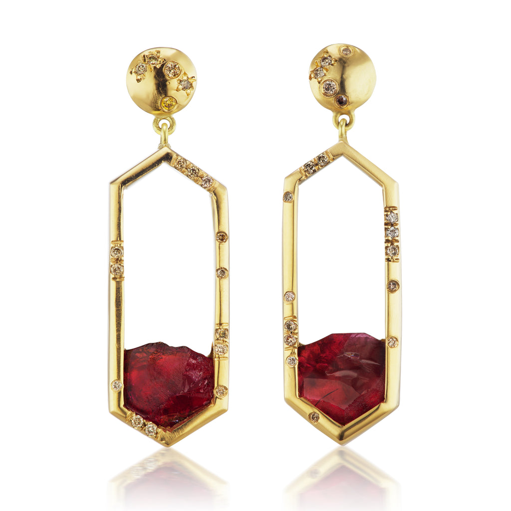 Debra Earrings - Pink Tourmaline