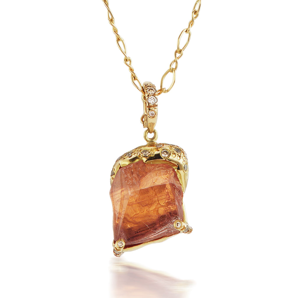 Esther Pendant - Orange Tourmaline