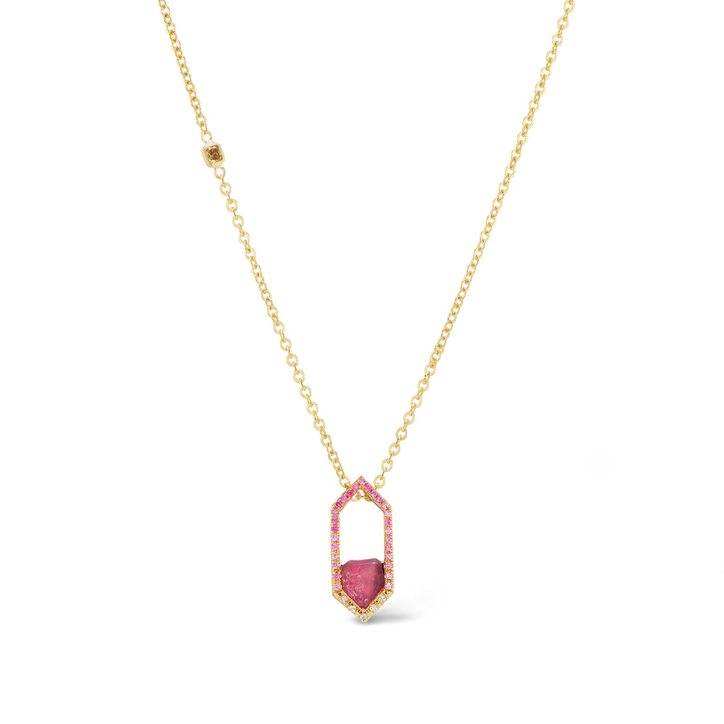 Debra Slide Necklace - Pink Spinel