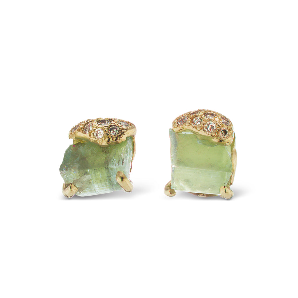 Pia Stud Earrings - Aquamarine