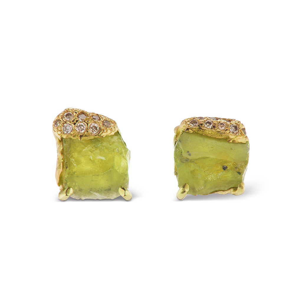 Pia Stud Earrings - Peridot