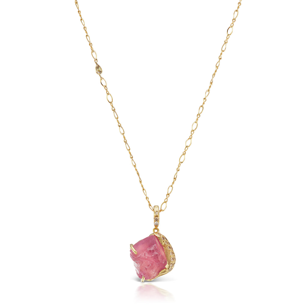 Esther Pendant - Pink Tourmaline