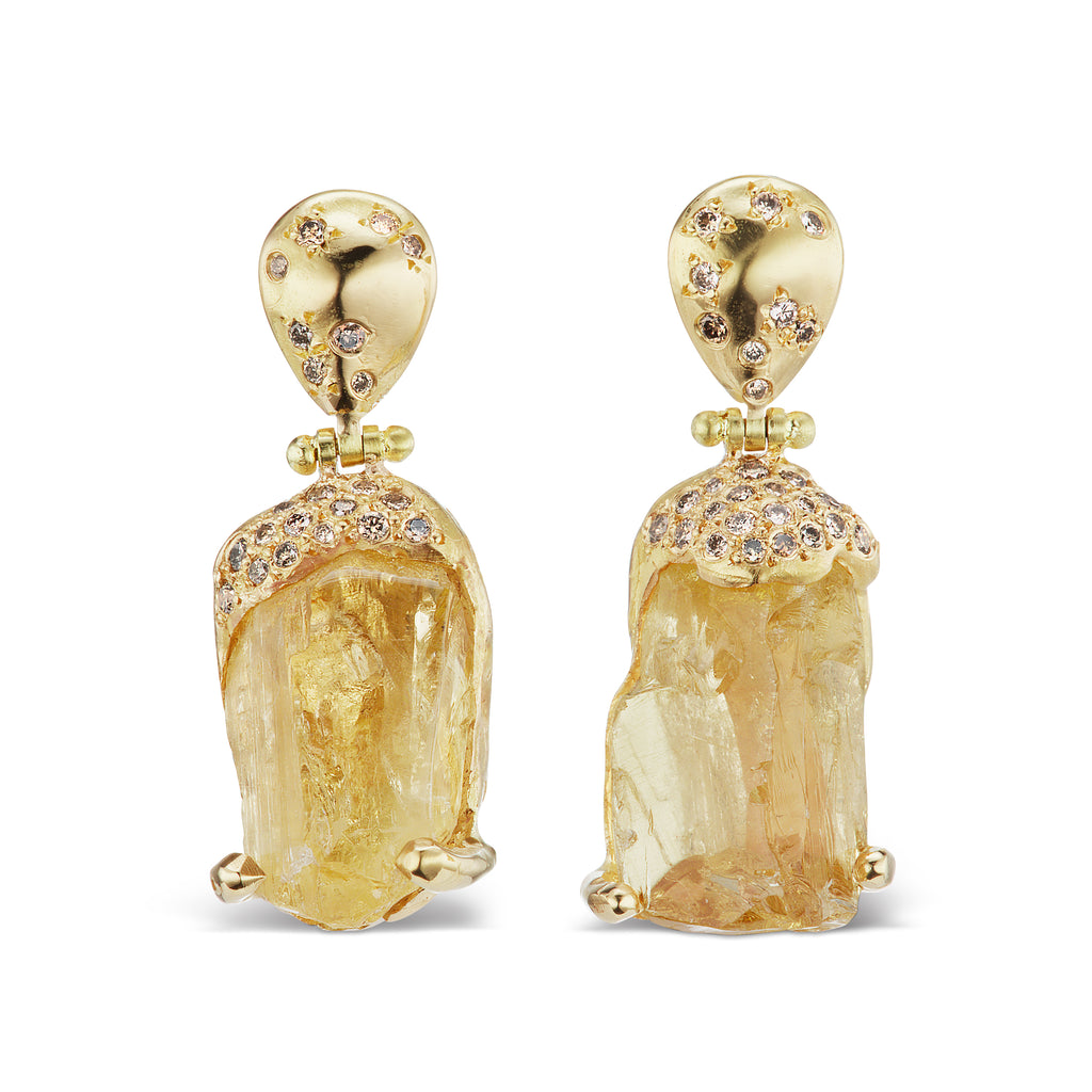 Jackson Hinged Drop Earrings - Scapolite