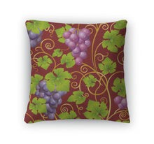 Load image into Gallery viewer, Throw Pillow, Seamless Grape Pattern