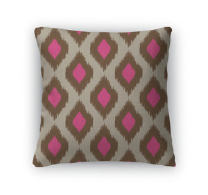 Throw Pillow, Modern Ikat Pattern For Web Or Home Decor