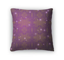 Load image into Gallery viewer, Throw Pillow, Antique Pattern Purple Wallpaper