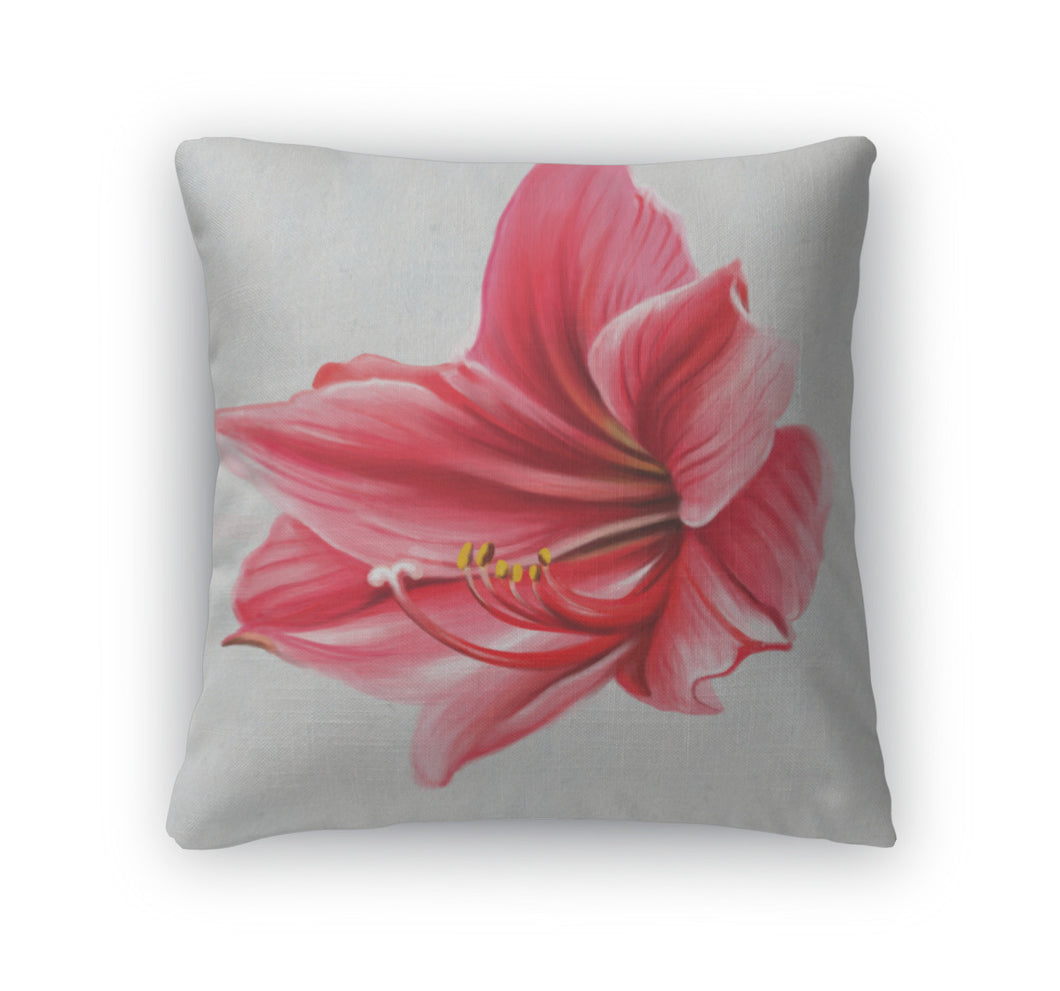 Throw Pillow, Beautiful Red Flower