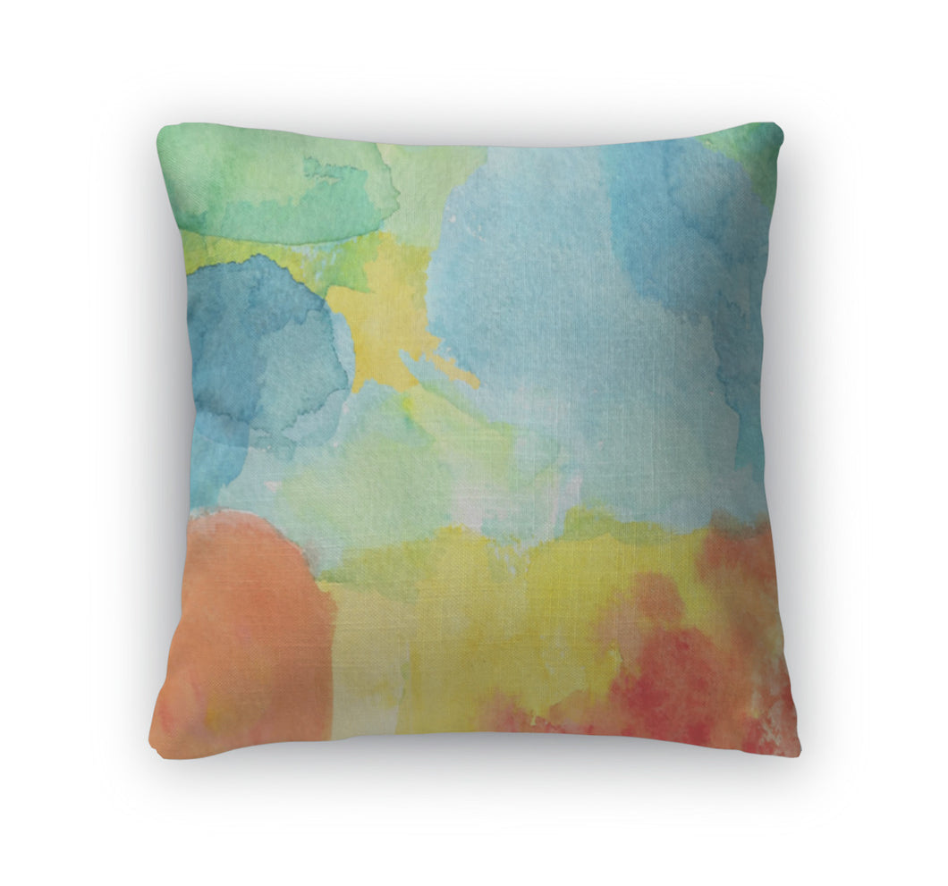 Throw Pillow, Abstract Watercolor