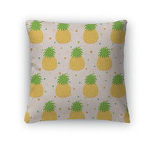 Load image into Gallery viewer, Throw Pillow, Pattern With Pineapple