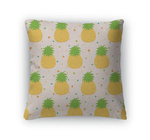 Throw Pillow, Pattern With Pineapple