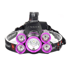 Load image into Gallery viewer, LED Headlamp 50000lm 5*T6 Bike Light Rechargeable Fish Camp Flash