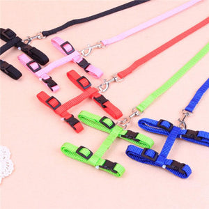 Adjustable Nylon Pet Cat Dog Puppy Walking Lead Harness Chest Strap With Leash