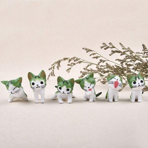 6 pcs /set Mini Cat Moss Micro World Bonsai Garden Small Ornament Landscape Home