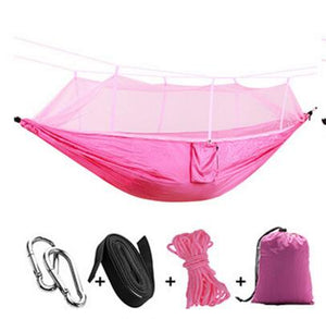 Ultralight Outdoor Camp Mosquito Net Hammock Flyknit Hang Bed