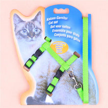 Load image into Gallery viewer, Adjustable Nylon Pet Cat Dog Puppy Walking Lead Harness Chest Strap With Leash