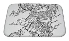 Load image into Gallery viewer, Bath Mat, Dragon Tattoo Illustration