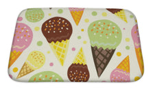 Load image into Gallery viewer, Bath Mat, Pattern Of Ice Cream