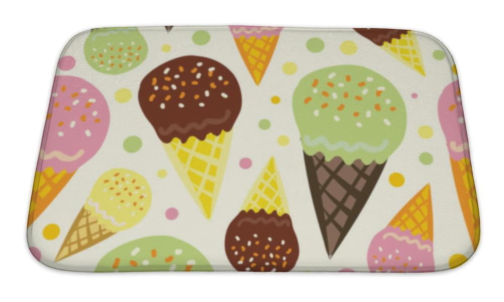 Bath Mat, Pattern Of Ice Cream