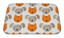 Load image into Gallery viewer, Bath Mat, Pattern With Cats And Dogs