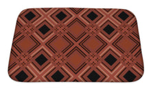 Load image into Gallery viewer, Bath Mat, Retro Tartan Checkered Plaid Pattern Terracotta