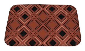 Bath Mat, Retro Tartan Checkered Plaid Pattern Terracotta