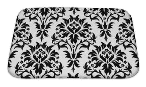 Bath Mat, Damask Pattern
