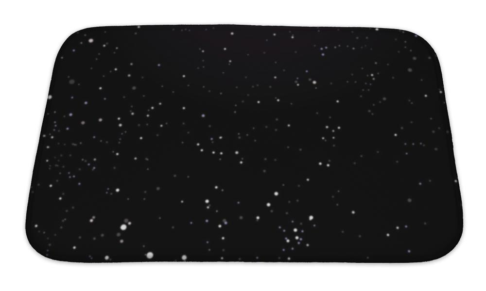 Bath Mat, Night Sky Black With Stars
