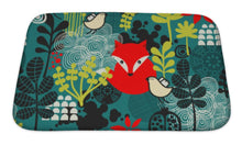 Load image into Gallery viewer, Bath Mat, Birds Fox And Flowers Pattern