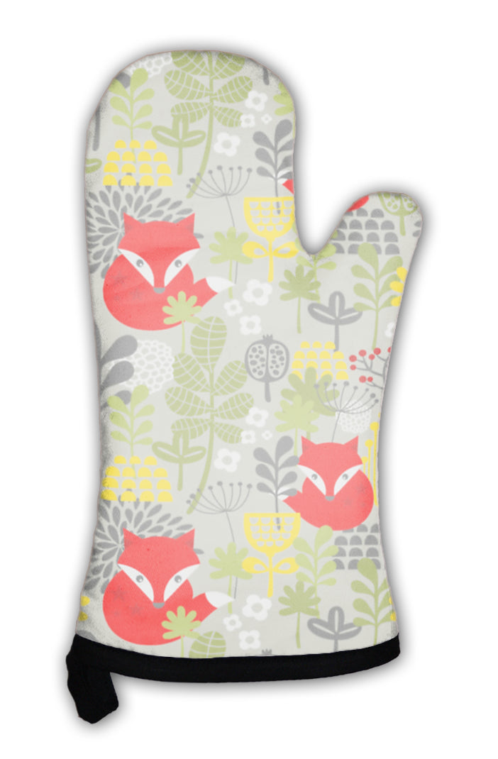 Oven Mitt, With Cute Little Fox
