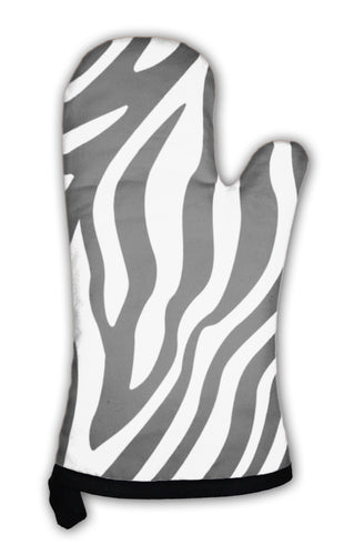 Oven Mitt, Zebra Stripes Pattern