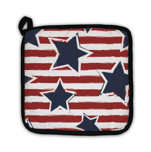 Potholder, Happy 4th Of July Usa Independence Day Seaml