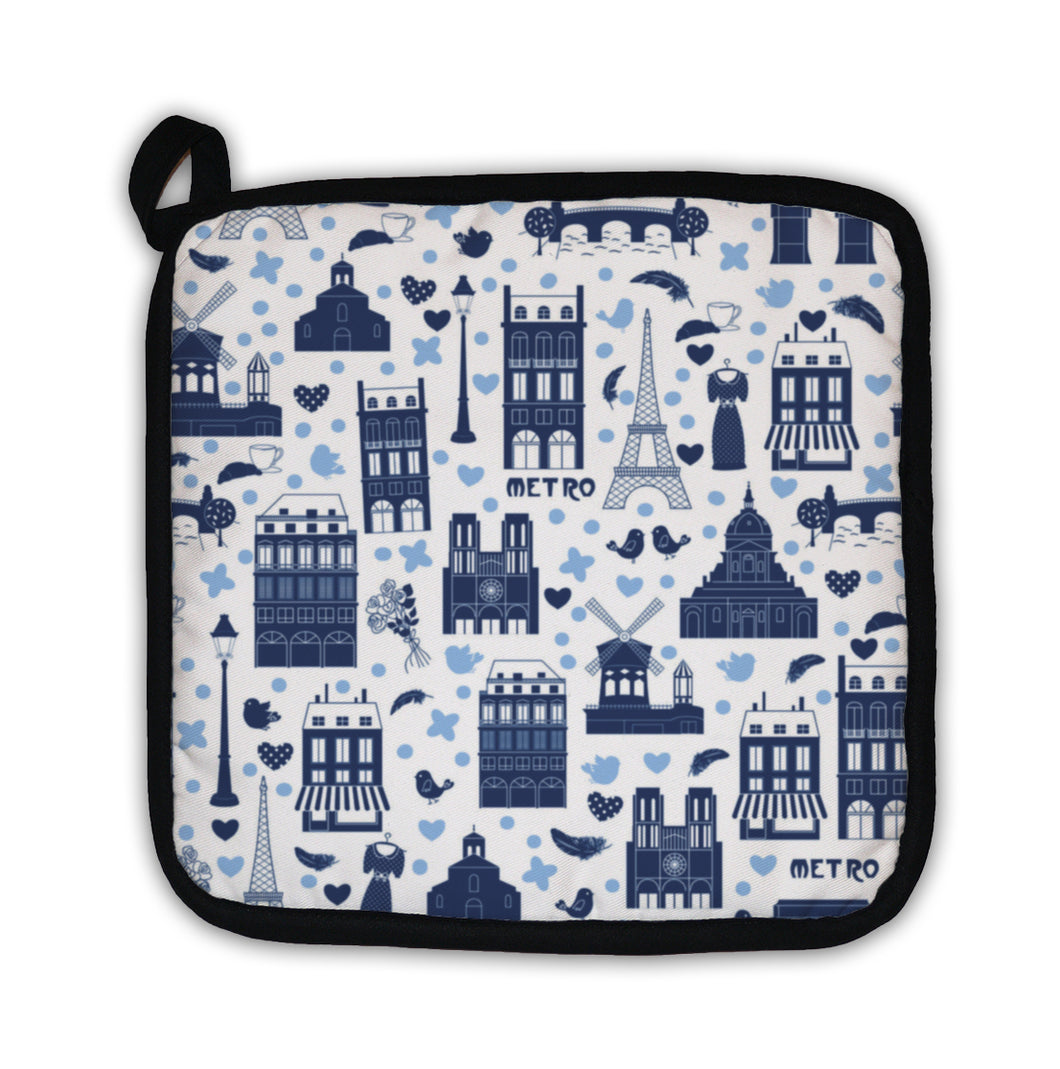 Potholder, Paris Pattern