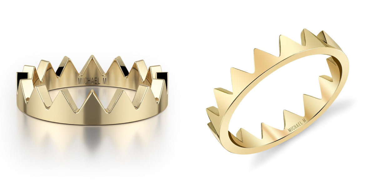 Mini Crown Ring from MICHAEL M