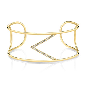 Single V Diamond Cuff