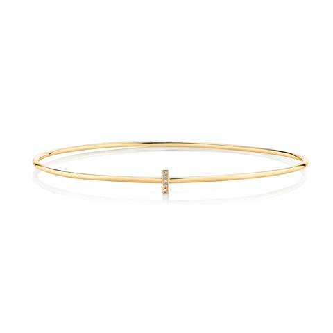 Mini Diamond Bar Pavé Bangle