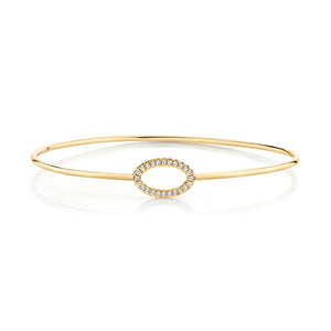 Diamond Oval Pavé Bangle