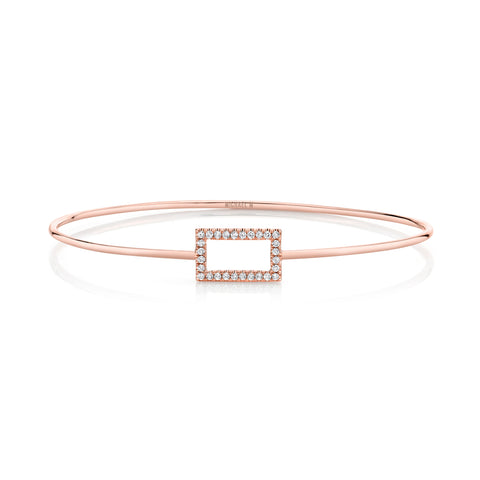 Diamond Rectangle Pavé Bangle