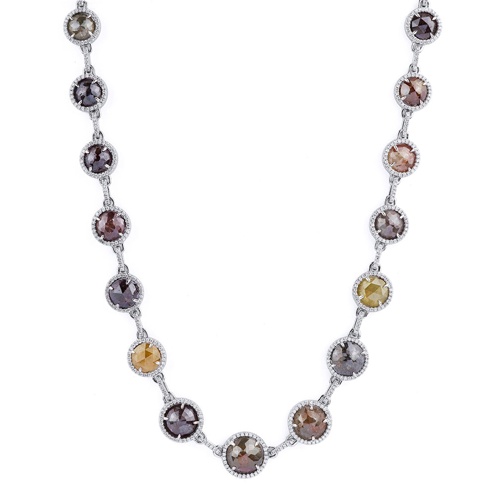 Assorted Rose Cut Diamond Necklace