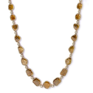 Sliced Yellow Diamond Necklace