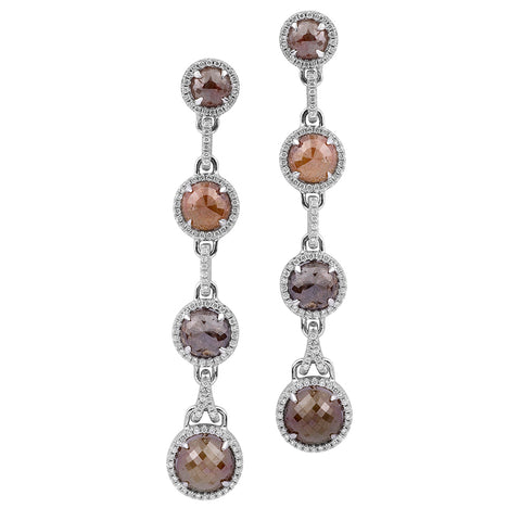Multi-Colored Diamond Drop Earrings