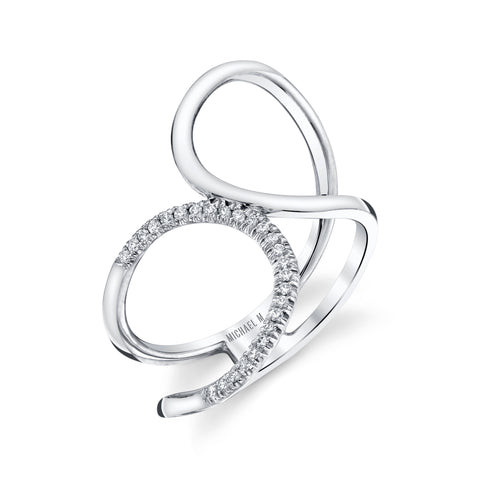 Diamond Twist Bridge Ring