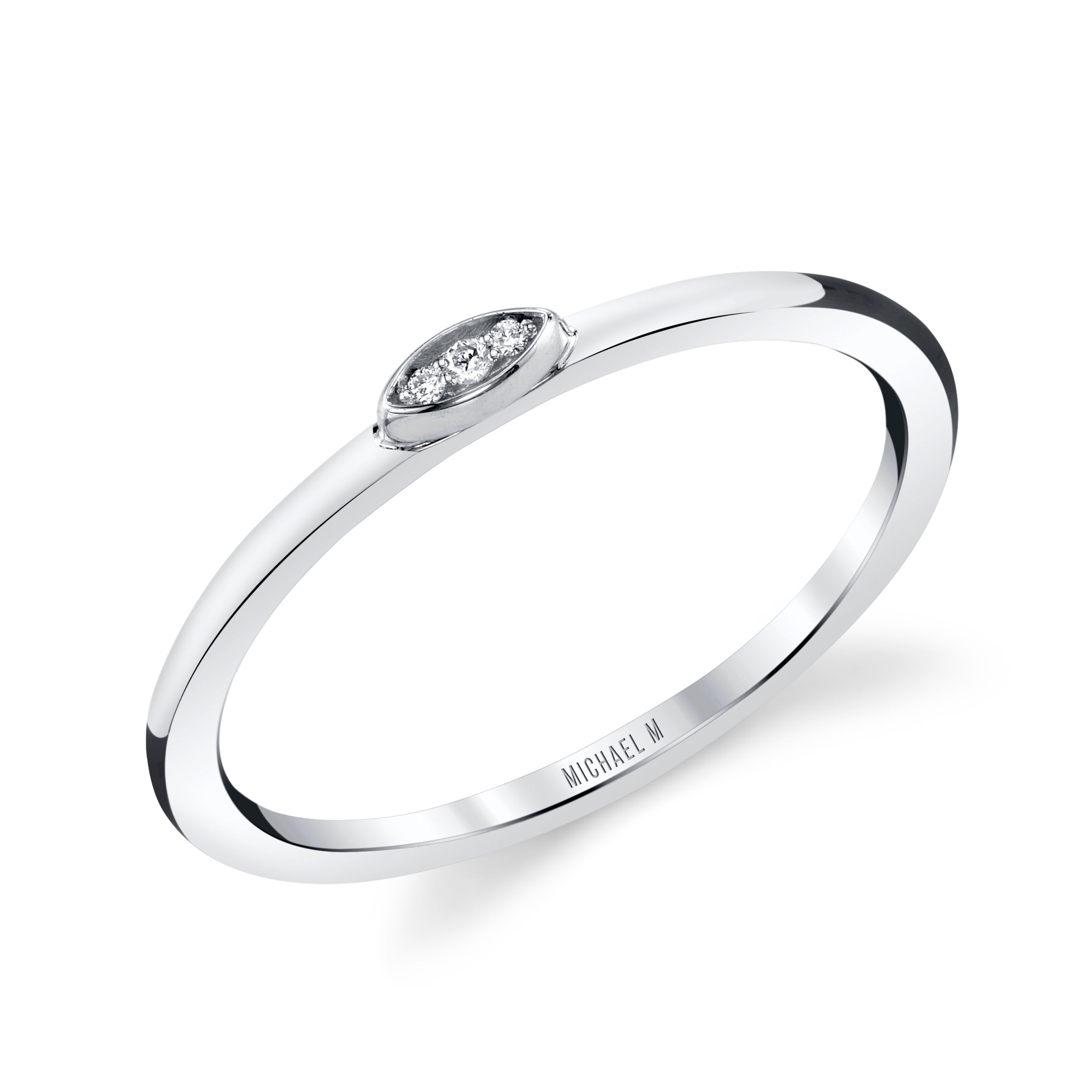 Micro Pavé Diamond Disc Ring