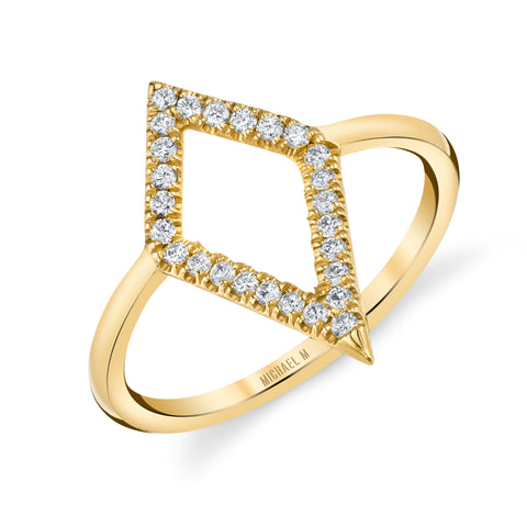 Diamond Narrow Kite Ring