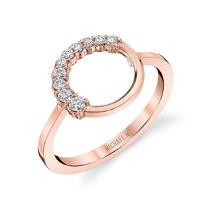 Open Circle Diamond Ring